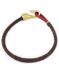 Lulu Frost G. Frost X Michael Bastian - Thin Dbl Strand Bracelet Red/Brown red - Lyst