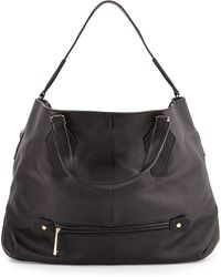 Halston Heritage Convertible Leather Hobo - Lyst