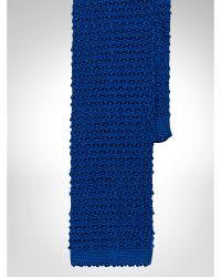 Ralph Lauren Solid Knit Silk Tie - Lyst
