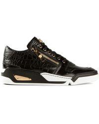 Versace Zip Detail Sneakers - Lyst