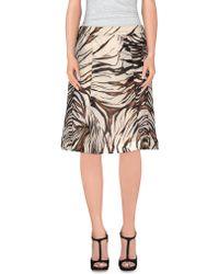 Mariella Burani Knee Length Skirt - Natural