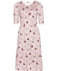 Bottega Veneta Knitted Dress - Lyst
