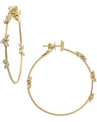 Paul Morelli - 18k Yellow Gold Diamond Confetti Single Wire-hoop Earrings - Lyst