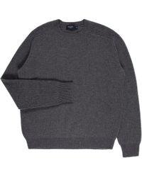 Paul Smith | Men's Grey Merino Wool Ribbed Sweater | Lyst