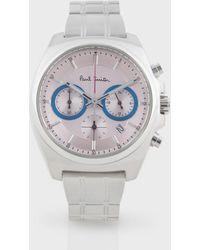 Paul Smith Light Pink Final Eyes Mini Chronograph Watch