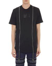 Hood By Air Industrial Zip Trim T-Shirt - Lyst