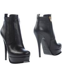 Yves Saint Laurent Rive Gauche Ankle Boots black - Lyst