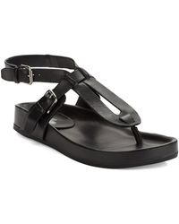 Belle By Sigerson Morrison April Leather Thong Sandals - Lyst