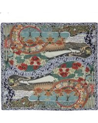 Mary Katrantzou Multicolour Winding River Cashmere and Modal-blend Scarf - Lyst