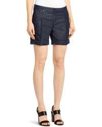 BOSS 'novalie'   Cotton Denim Shorts - Blue