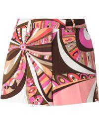 Emilio Pucci Printed Shorts - Lyst