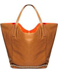 Asos Shopper Bag with Chain Trim - Lyst