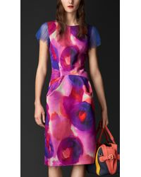 Burberry Silk and Cotton Dress - Lyst