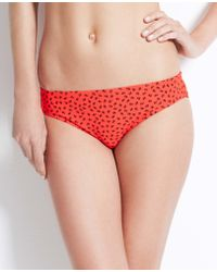 Ann Taylor Mini Anchor Print Bikini Bottom - Lyst