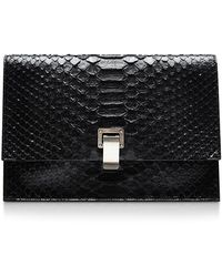 Proenza Schouler The Lunch Bag Small Python Clutch - Lyst
