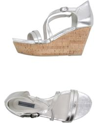 Vic Sandals silver - Lyst