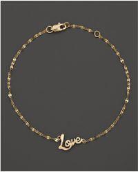Lana Jewelry - 14k Yellow Gold Love Bracelet - Lyst