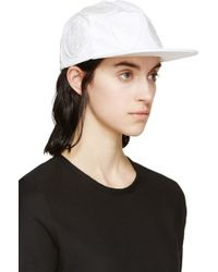 Off White C/o Virgil Abloh White Twill Patched Cap - Lyst