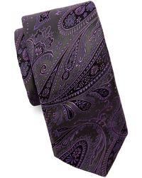 Ted Baker Paisley Silk Tie - Gray