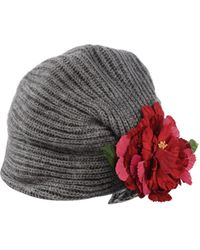 Manoush - Flower Applique Wool-Blend Hat - Lyst