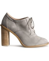 H&M High-Heeled Lace-Up Shoes - Lyst