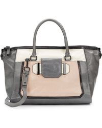 Milly Kelly Colorblock Leather Satchel - Lyst