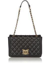 Love Moschino Black Quilt Medium Shoulder Bag - Lyst