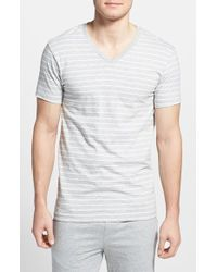 Polo Ralph Lauren Stripe Cotton V-Neck T-Shirt - Lyst