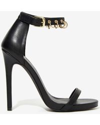 Nasty Gal Anarchy Vegan Leather Heel - Lyst