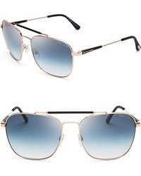 Tom Ford Edward Aviator Sunglasses - Lyst