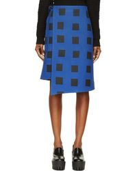 Kenzo  Wool Wrap Skirt - Lyst