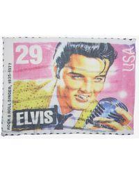 Maison Passage Elvis Print Scarf - Pink