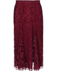 Burberry Prorsum Mid Length Skirt - Lyst