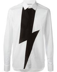 Neil Barrett Lightening Bolt Shirt - Lyst