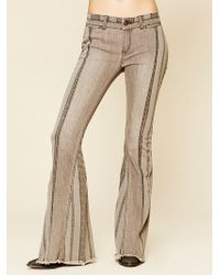 Free People Danica Mid Rise Flare - Lyst