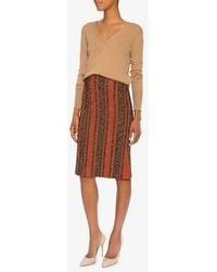 Thakoon - Striped Boucle Seamed Skirt - Lyst