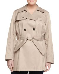 Via Spiga Scarpa Double-Breasted Trench Coat, Sand - Lyst