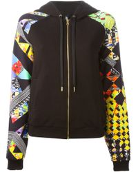 Versus  Hooded Zipped Up Sweatshirt - Lyst