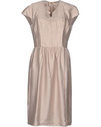 Tory Burch Knee-Length Dress beige - Lyst