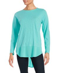 Two By Vince Camuto Mixed Media Knit Top - Blue