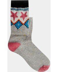 Cath Kidston Fair Isle Gumboot Socks - Gray