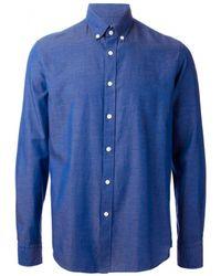 Mr Start Blue Button Down Collar Shirt - Lyst
