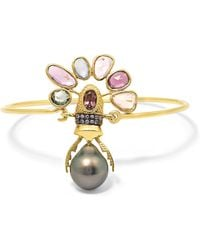 Daniela Villegas - 18-karat Gold Multi-stone Bracelet - Lyst