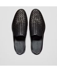 Bottega Veneta | Slip-on In Nero Intrecciato Calf | Lyst