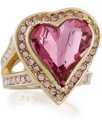 St. John - Multi Tonal Crystal Heart Ring - Lyst