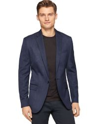 Calvin Klein Blue One-Button Blazer - Lyst