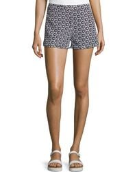 Diane von Furstenberg Tiffany Clean Printed Silk Shorts - Lyst