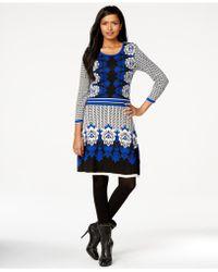 Eci - Mixed-print Intasria Jumper Dress - Lyst