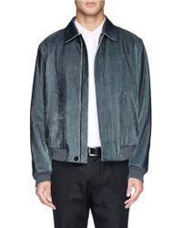 Alexander McQueen Laser Cut Leather Jacket - Lyst