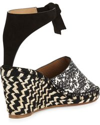 Proenza Schouler Embossed Espadrille Wedge Sandal - Multicolor